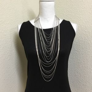5/$25 Silver Multi-Strand Waterfall Necklace